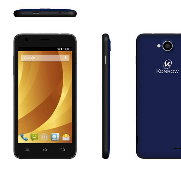 Konrow Easy One - Smartphone Android - 4G - Ecran 4'' - Double Sim - 8Go, 1Go RAM - Bleu Nuit