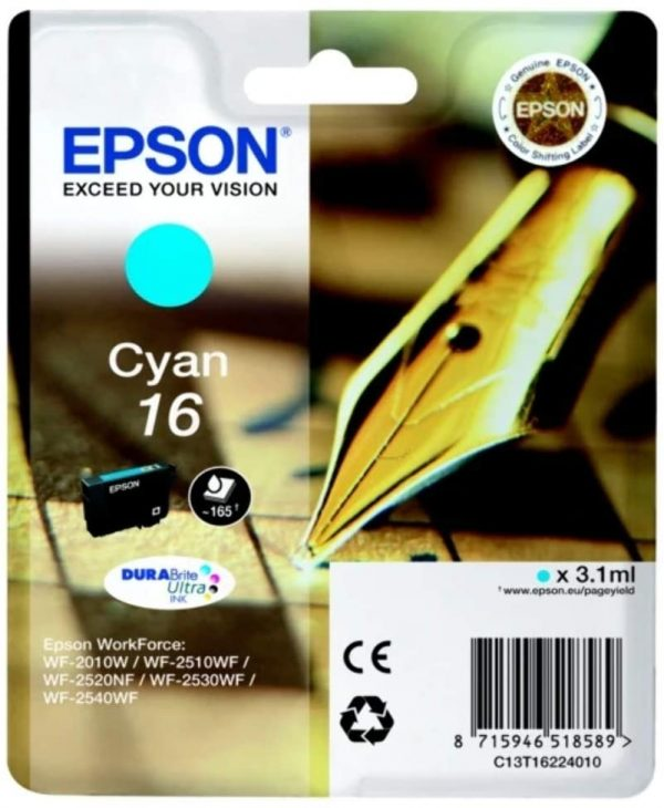Cartouche d'encre Cyan Epson 16