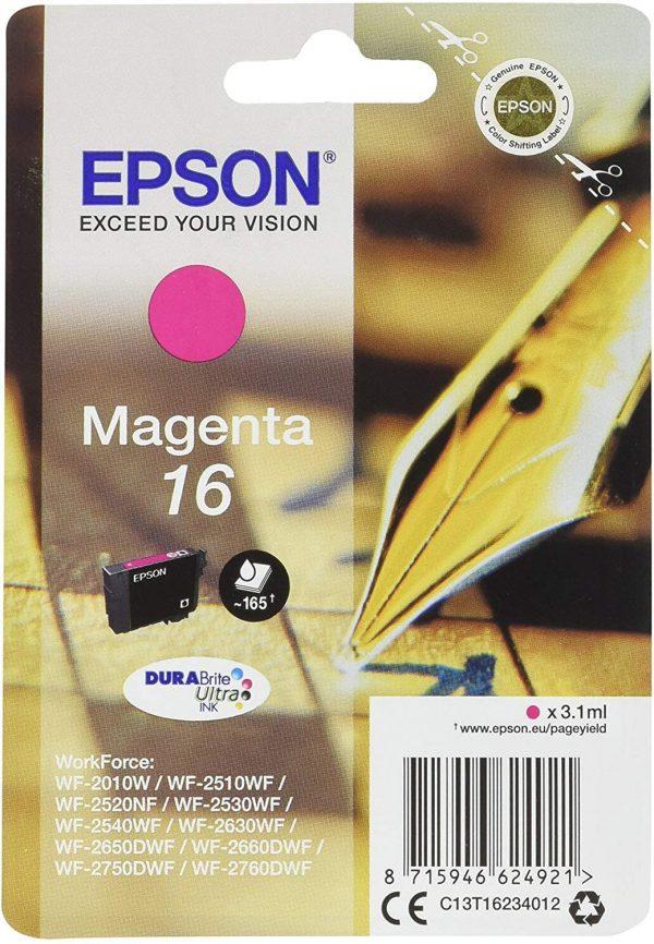 Cartouche d'encre Magenta Epson 16