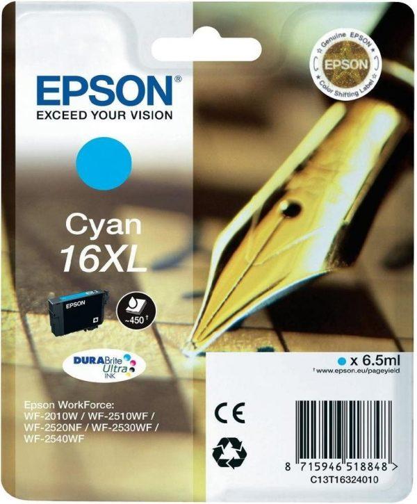 Cartouche d'encre grande capacité Cyan Epson 16XL