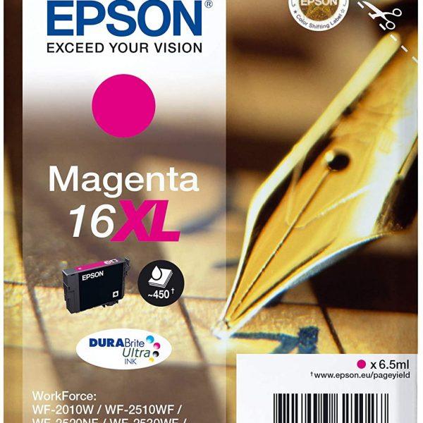 Cartouche d'encre grande capacité Magenta Epson 16XL