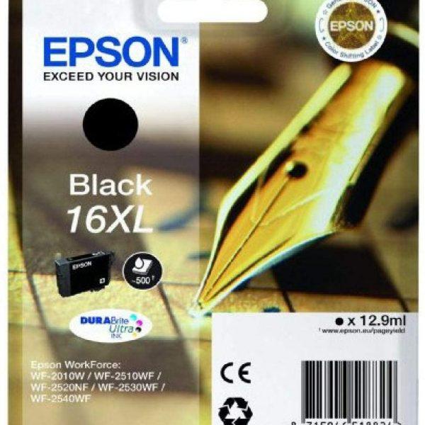 Cartouche d'encre Noire grande capacité Epson 16XL