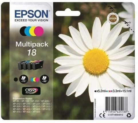 Pack de 4 cartouches d'encre Epson 18