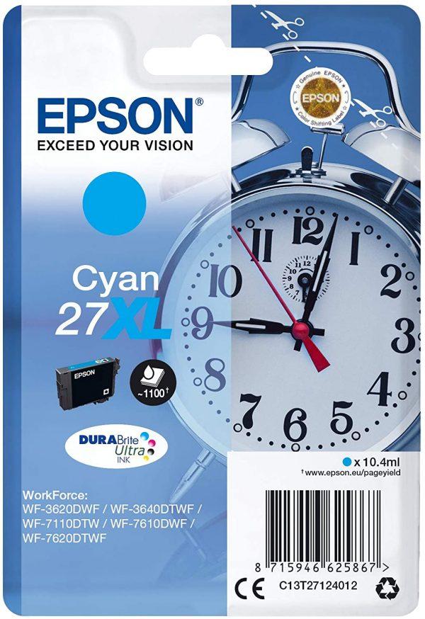 Cartouche d'encre Cyan Epson 27XL