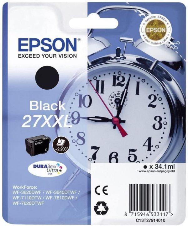 Cartouche d'encre Noire Epson 27XXL