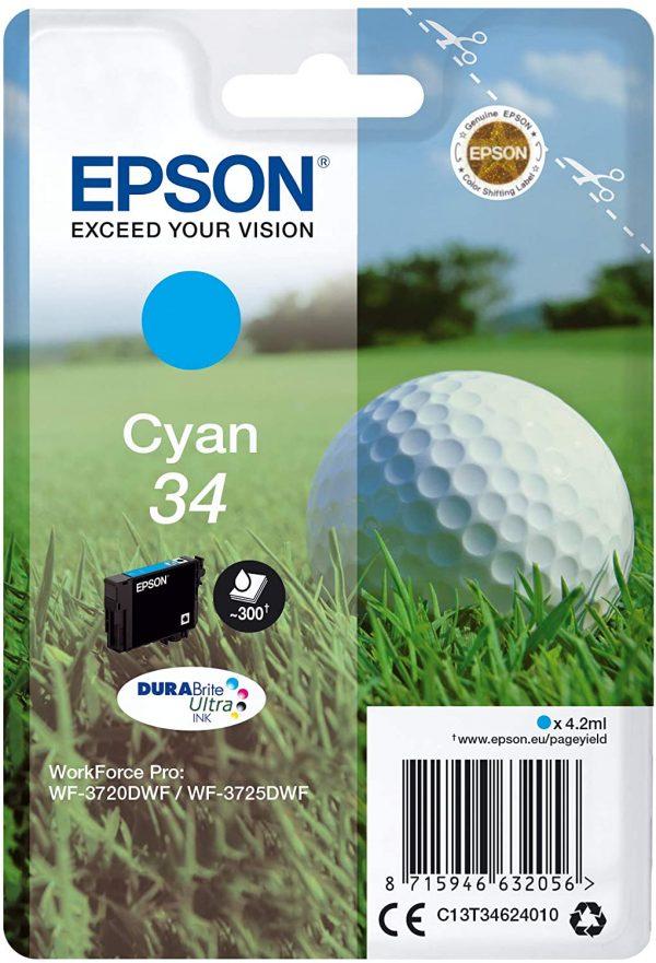 Cartouche d'encre Cyan Epson 34
