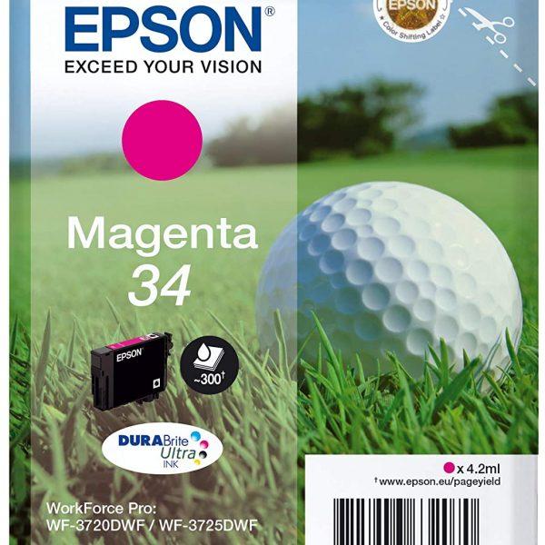 Cartouche d'encre Magenta Epson 34