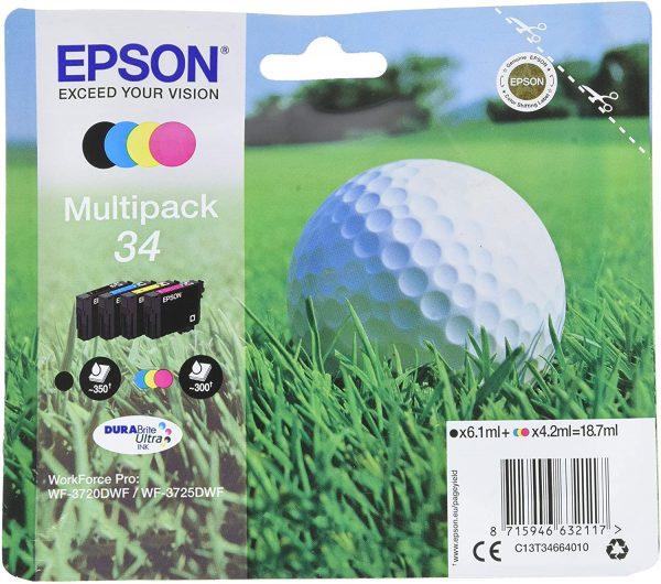Pack de 4 cartouches d'encre Epson 34
