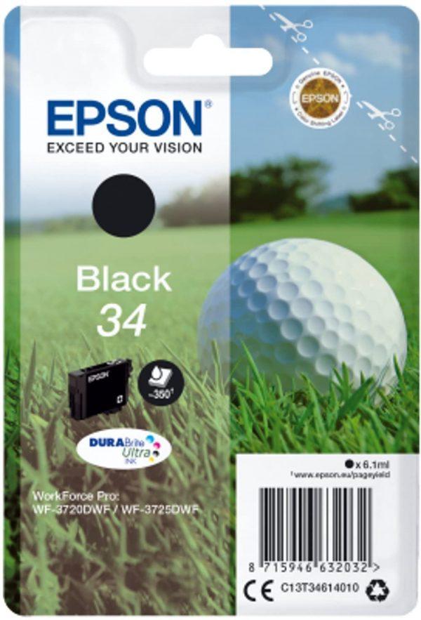 Cartouche d'encre noire Epson 34