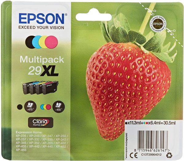 Pack de 4 cartouches d'encre Epson 29XL